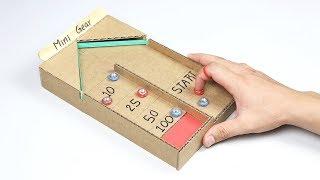 How to Make Desktop Shuffleboard Game from Cardboard
