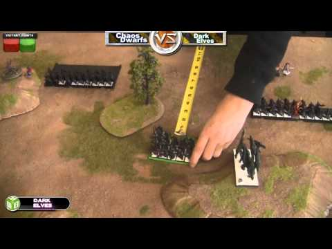 Dark Elves vs Chaos Dwarfs Warhammer Fantasy Battle Report - Beat The Cooler Ep 27 - Part 1/2
