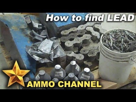 How to find free & cheap lead for bullet casting and reloading ammo