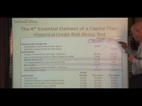 S&B: Stress Testing, an Essential Element of a Capital Plan