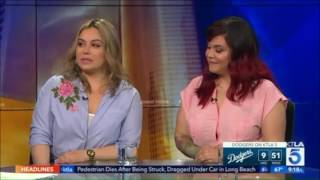 "Chiquis and Jacqie - ""The Riveras"" Interview KTLA5"