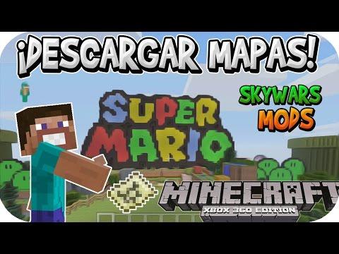 ¡CÓMO DESCARGAR MAPAS PARA MINECRAFT DE CONSOLA CON MODS! | Xbox 360/ONE/PS3/PS4