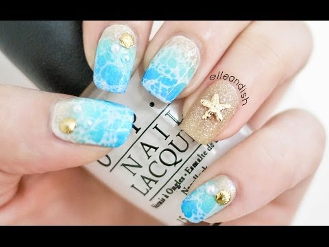 Spring Break: Water Spotted Beach Nails (2 Ways!)