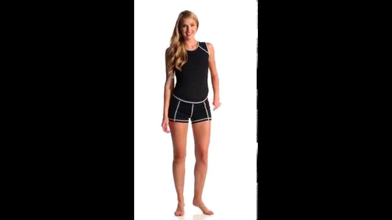 Girls4sport Women S Sleeveless Rashguard With White