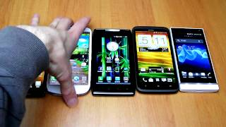 Super Smartphone Showdown (4/6): One XL vs Galaxy S III vs Xperia S vs Droid Razr vs Optimus 4X HD