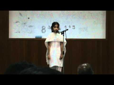 Janaki Saisruthi Kambampati -state 1st In Moral Story Telling Competetion video