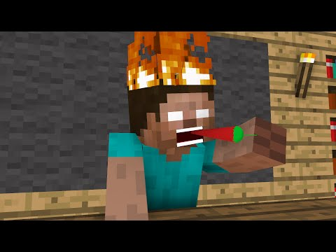 Monster School: Hot Chili Contest - Minecraft Animation