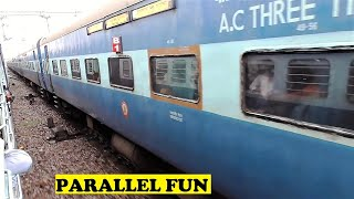 Agra Delhi Passenger & Kerala Express Parallel Fun Time