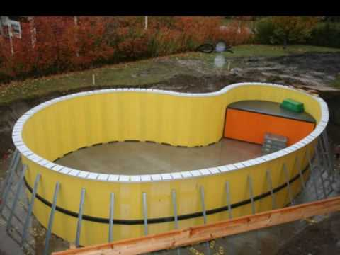 Bygga pool själv leca