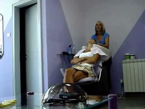 Sexy Woman Shampooing  Salon Duo video