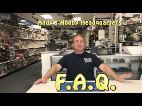 Andy's Hobby Headquarters F. A.Q.  Frequently asked questions