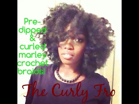 Crochet Marley Hair Youtube : Pre-Dipped & Curled Marley Crochet Braids Curly Fro - YouTube