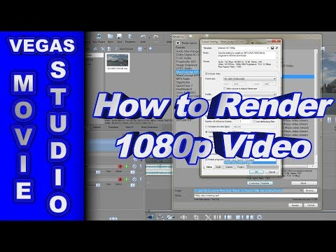 How to Render 1080p Video in Movie Studio Platinum 13
