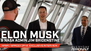 Exclusive interview with Elon Musk and Jim Bridenstine about #DM2, SpaceX's first crewed launch!