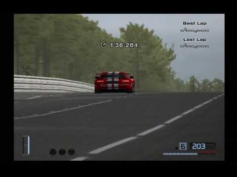 A GT mode lap with a N/A tuned Dodge Viper GTS-R Team Oreca Race Car at Circuit de la Sarthe 1 in 3'10.635 without using driving aids