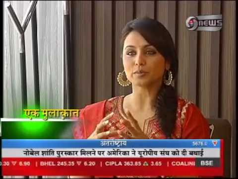 Manoj Tibrewal Aakash interviewed Rani Mukherjee for DD News's Ek Mulaqat (Programme) on 13.10.2012