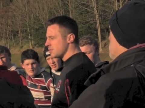 Tommy Bowe visits RS Armagh