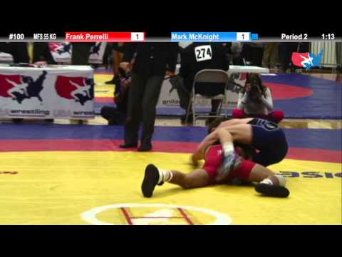 55 KG SF - Frank Perrelli (NYAC) vs. Mark McKnight (NLWC)