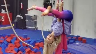 HILARIOUS GYMNASTICS CHALLENGE TAUGHT BY 4 YEAR OLD!!!
