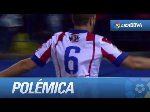 Polémica: posible mano de Tiago y gol de Koke (1-0) en el Atlético de Madrid - Valencia CF