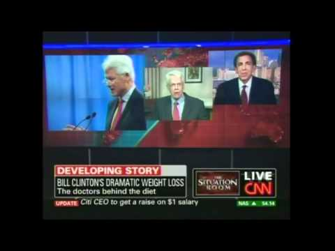 CNN - Drs. Esselstyn and Ornish interview about Bill Clinton going Vegan