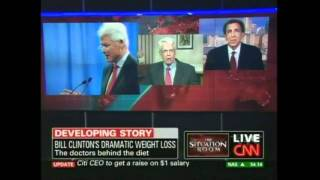 CNN - Drs. Esselstyn and Ornish interview about Bill Clinton going Vegan