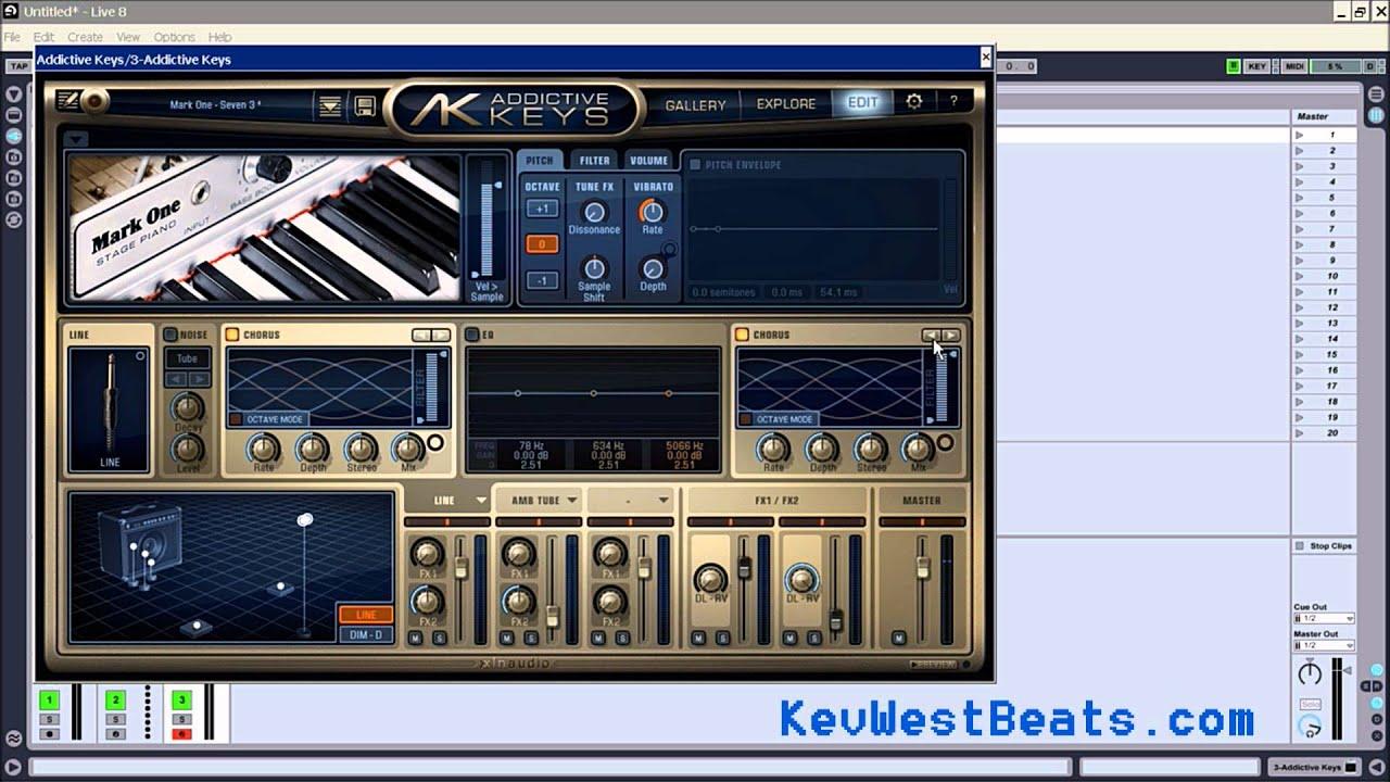 how to use xln audio addictive keys