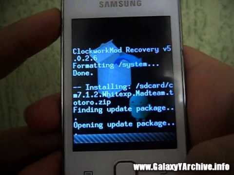 Installing CyanogenMod 7 on Galaxy Y