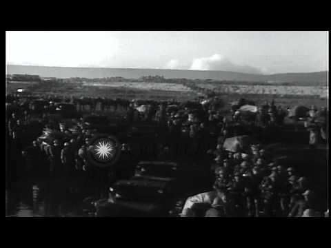 Second Italian-Ethiopian War. Italian Troops And Armor Invade Ethiopia HD Stock Footage