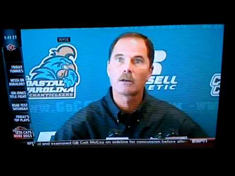 David Bennett coastal Carolina coach rant