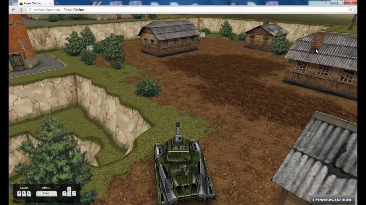 Учусь играть в танки онлайн 1 YouTube