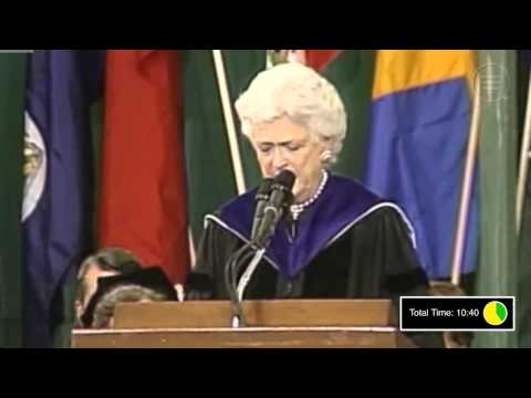 UniversityNow: Barbara Bush Commencement Speech- Audience Analysis