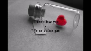 I don't love you - My cheminal romance [Lyrics et traduction FR]