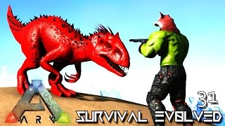 ARK: SURVIVAL EVOLVED - BABY INDOMINUS REX BREEDING !!! E31 (MODDED ARK PUGNACIA DINOS)
