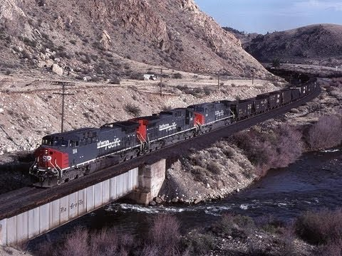 D&RGW's scenic Tennessee Pass line, and a heavy SP Geneva ore train. 1996...
