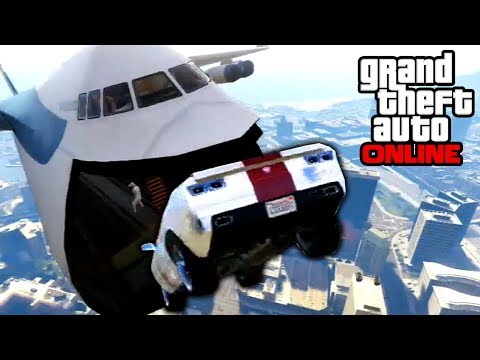 GTA 5: Online - Sick Cargo Plane Stunts & BUSTED! | 28th Jan. 2014