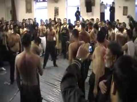 10th Muharram Asghar Khan Loka Ne/Vasde Ghara de 1st Zanjeer Ka Matam@Hussaini Mission Npt 6-11-12.