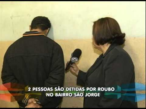 Duas pessoas são detidas por roubo no bairro São Jorge