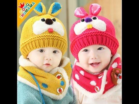 Вязание шапок для детей от 1 до 3 лет 393
