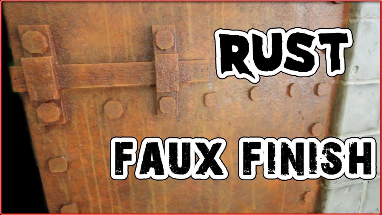 How To Make Faux Rust Paint