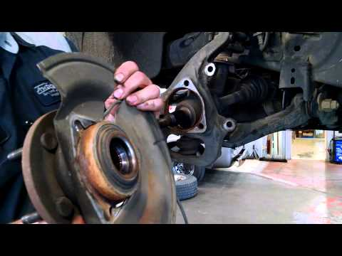 Wheel bearing Hub Assembly replacement Dodge Dakota 2005 - 2009 Install Remove Replace How to