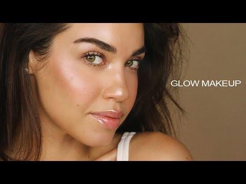 How To: No Foundation Makeup Routine   GLOW MAKEUP   Flawless Glowing Skin with No Foundation