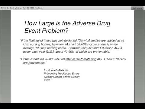Medication Safety Webinar Nov. 22, 2012