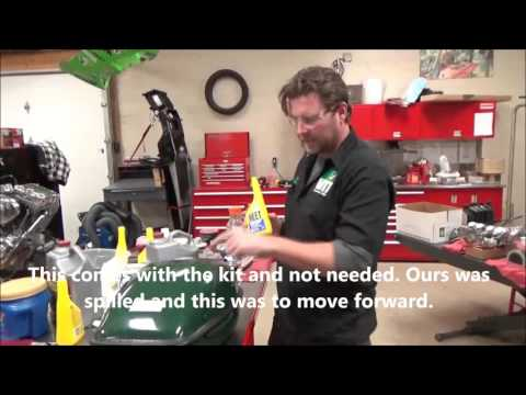How to clean  prep and line a fuel tank demonstrated with Northern Brand Liner Kit