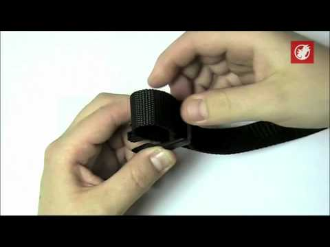 how to thread a webbing strap onto a ladder lock buckle youtube. Black Bedroom Furniture Sets. Home Design Ideas