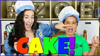 RAINBOW CheckerBoard Cake - How to Make a Surprise Inside Rainbow Cube Cake