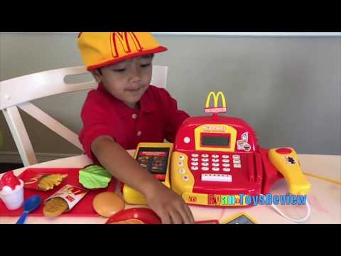 McDonalds Drive Thru Pranks Bad Kids Power Wheels Ride On Car w/ Happy Meal Spiderman Pretend Play