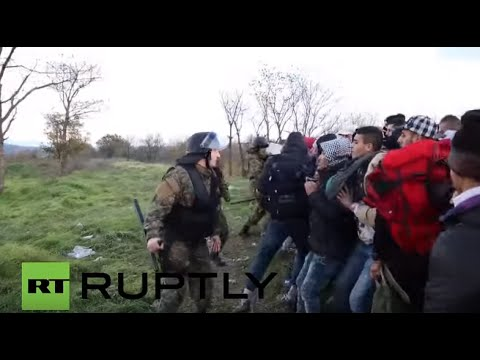 Greece: Macedonian police clash with migrants as journey to EU is blighted