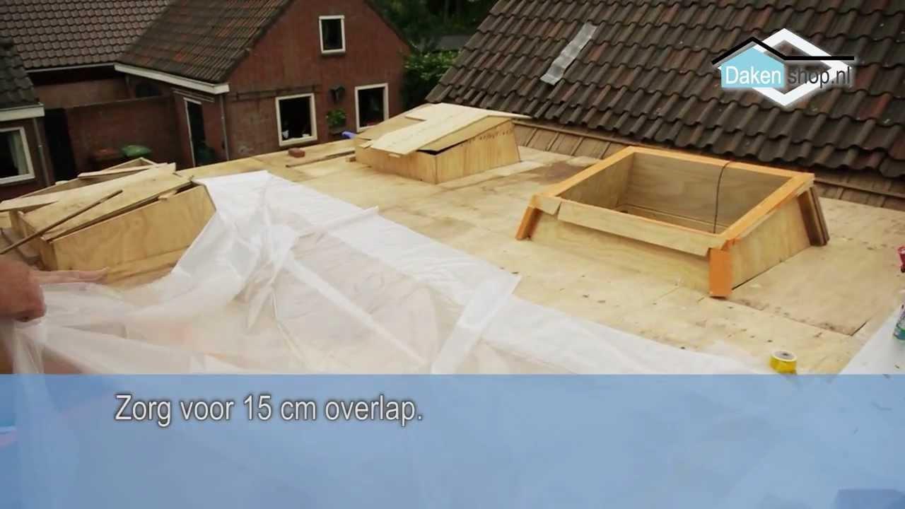 dakenshop epdm dakbedekking voorbereiding handleiding epdm verwerking pe folie isolatie. Black Bedroom Furniture Sets. Home Design Ideas