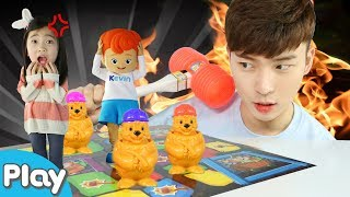 뿅망치로 뿅! 두더지 잡기 보물광산 게임 놀이 l 캐리앤 플레이